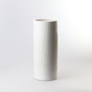 Hohe Vase Nageire, weiß, 31,5 cm