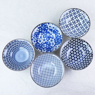 5er Set Kobachi Blue & White