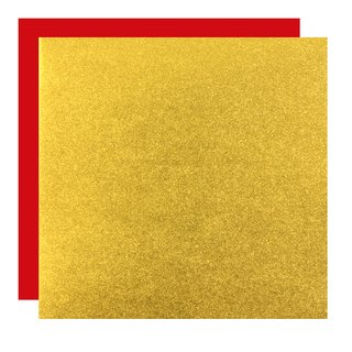 Metallic-Paper Double Color 7,5 cm gold-rot, 40 Blatt
