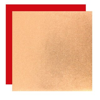 Metallic-Paper Double Color 15 cm kupfer-rot, 10 Blatt