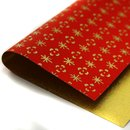 Double Color Washi Takumi rot-gold 15 x 15 cm, 5 Blatt