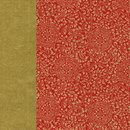 Double Color Washi Takumi Karakusa dunkelrot-gold 25 x 25...