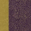 Double Color Washi Takumi Karakusa violett-gold 25 x 25...