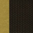 Double Color Washi Takumi - Hishigata schwarz-gold